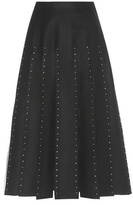 Valentino Embellished Wool And Silk Skirt