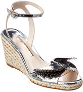 Sophia Webster Soleil Lucita Mirrored Espadrille Leather Wedge Sandal