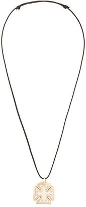 Gavello diamond Maltese pendant necklace