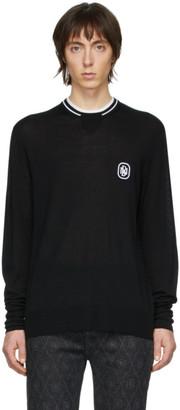 Neil Barrett Black Travel Logo Sweater