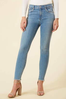 A Gold E Agolde AGOLDE Sophie Skinny Ankle Jean in Saltwater Light Denim 24