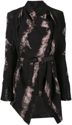 Masnada brush print belted jacket