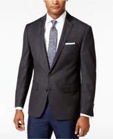 Ryan Seacrest Distinction Men's Slim-Fit Gray Windowpane Sport Coat, Created for Macy's