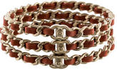 Chanel Interwoven Chain Bangle Set