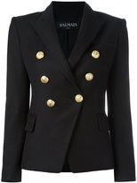 Balmain double breasted blazer - women - Cotton/Spandex/Elastane/Viscose - 38