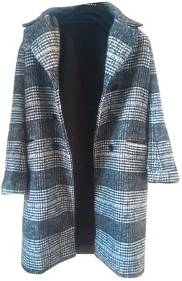 Sandro Fall Winter 2018 Grey Wool Coat for Women