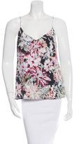 L'Agence Silk Floral Print Top