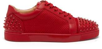 Christian Louboutin Seavaste 2 Spiked Leather Low Top Trainers - Mens - Red
