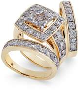 Macy's Diamond Cluster 3-Pc. Bridal Set (4 ct. t.w.) in 14k Gold