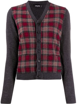 DSQUARED2 Tartan Check Cardigan