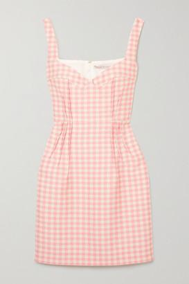 Emilia Wickstead Jude Gingham Cloque Mini Dress - Pink