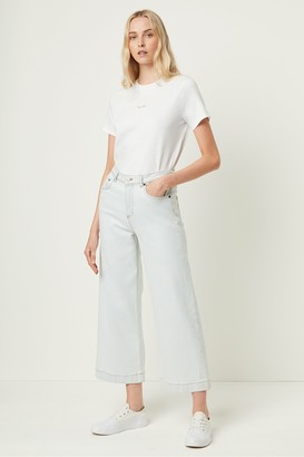 French Connection Lamier Denim Wide Leg Cropped Jeans