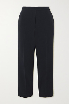Theory Cropped Crepe Slim-fit Pants - Navy