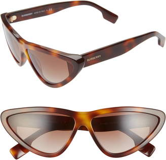 Burberry 65mm Oversize Cat Eye Sunglasses