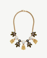 Ann Taylor Crystal Burst Tassel Necklace