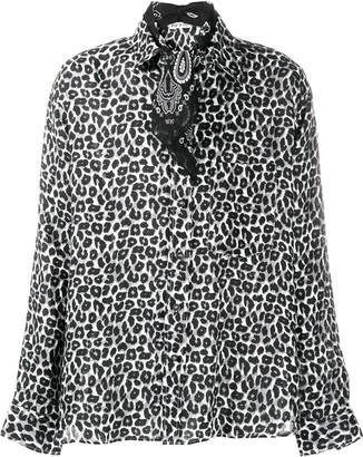 Destin Leopard-Print Long-Sleeved Shirt