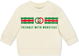 Gucci Kids cotton sweatshirt with GG print