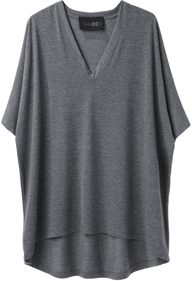 Thakoon V-Neck Volume T-Shirt