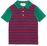 Gucci Children's striped terry polo