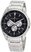 Pierre Petit Men's P-786D Serie Le Mans Black Dial Stainless-Steel Chronograph Tachymeter Watch