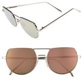 BP Women's 55Mm Flat Top Round Sunglasses - Gold