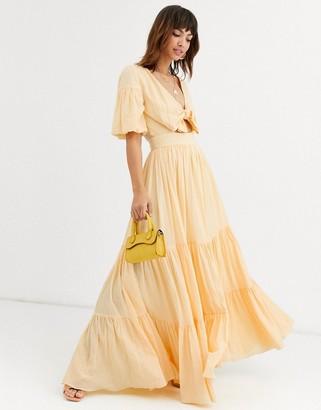 Bec & Bridge koa tiered maxi dress