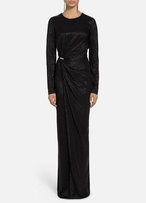 St. John Lame Cloque Gown