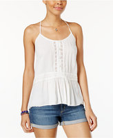 Volcom Juniors' Summit Stoni Crochet-Trim Cami Top
