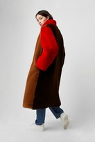 French Connenction Claudie Oversized Color Block Coat