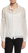 Needle & Thread Long-Sleeve Lace-Inset Top