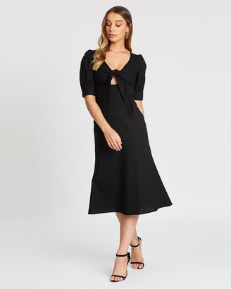 Atmos & Here Charlotte Tie Front Midi Dress