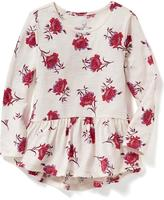 Old Navy Floral Peplum-Hem Tunic for Toddler