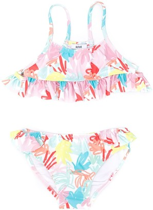 Knot Jungle pink bikini