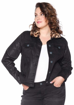 SLINK Jeans The Coated Jacket w/ Faux Fur in Zoey