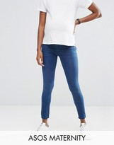 Asos Rivington Jegging in Amelia Dark Blue Wash with Under the Bump Waistband