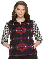Chaps Plus Size Southwestern Fleece Vest