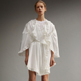 Burberry Broderie Anglaise Ruffle Cotton Dress