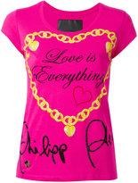 Philipp Plein 'Love Is Everything' slogan T-shirt - women - Cotton - XS