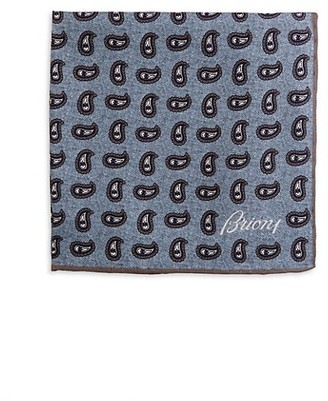 Brioni Paisley Silk Pocket Square