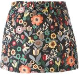 RED Valentino floral jacquard mini skirt - women - Polyester/Acetate - 40