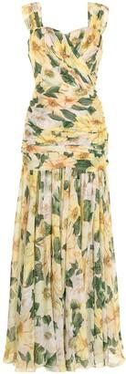 Dolce & Gabbana Floral-Print Evening Dress