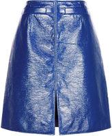 Courreges Blue Vinyl A-Line Skirt