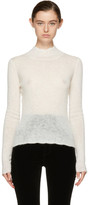 Carven Off-White Mohair Turtleneck