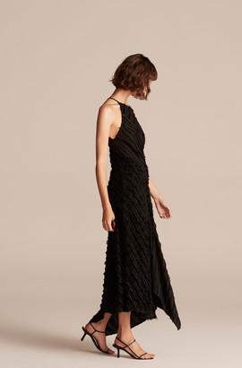 Rebecca Taylor Eyelash Stripe Long Dress