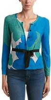 Tracy Reese Tie-waist Silk-trim Cardigan.