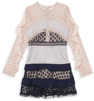 Bardot Junior Girl's Arabella Colorblock Lace Dress