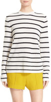 A.L.C. Tula Stripe Cashmere Surplice Back Sweater