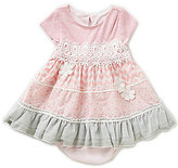 Rare Editions Baby Girls 3-9 Months Mixed Print Dress