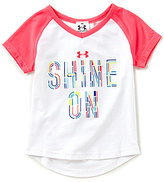 Under Armour Little Girls 2T-6X Shine On Short-Sleeve Tee