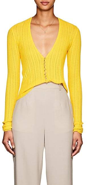 Altuzarra Women's Piazza Wool-Cashmere Cardigan - Yellow